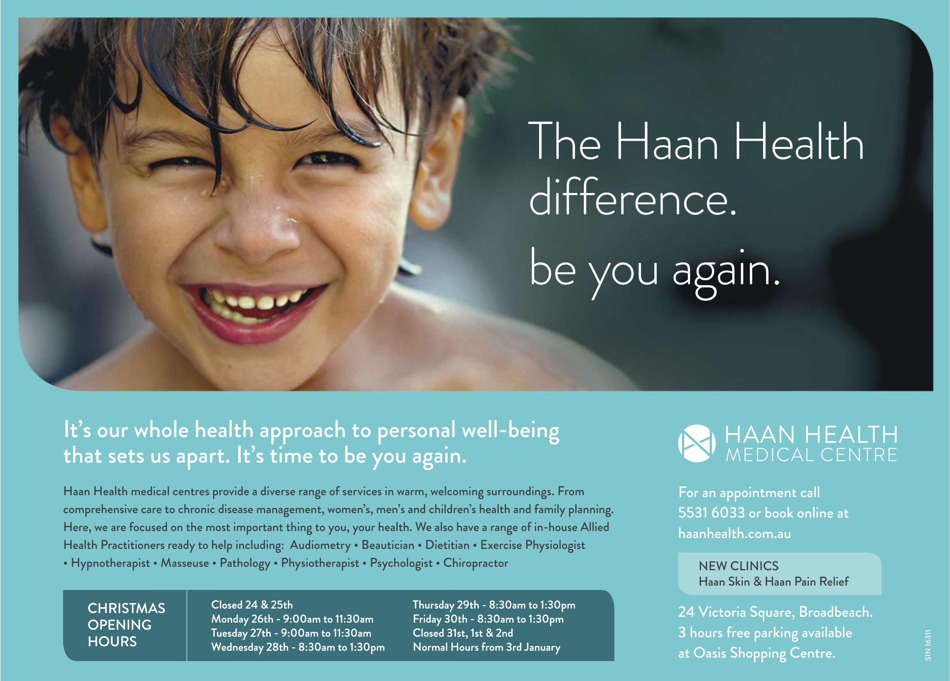 Haan Health Ad