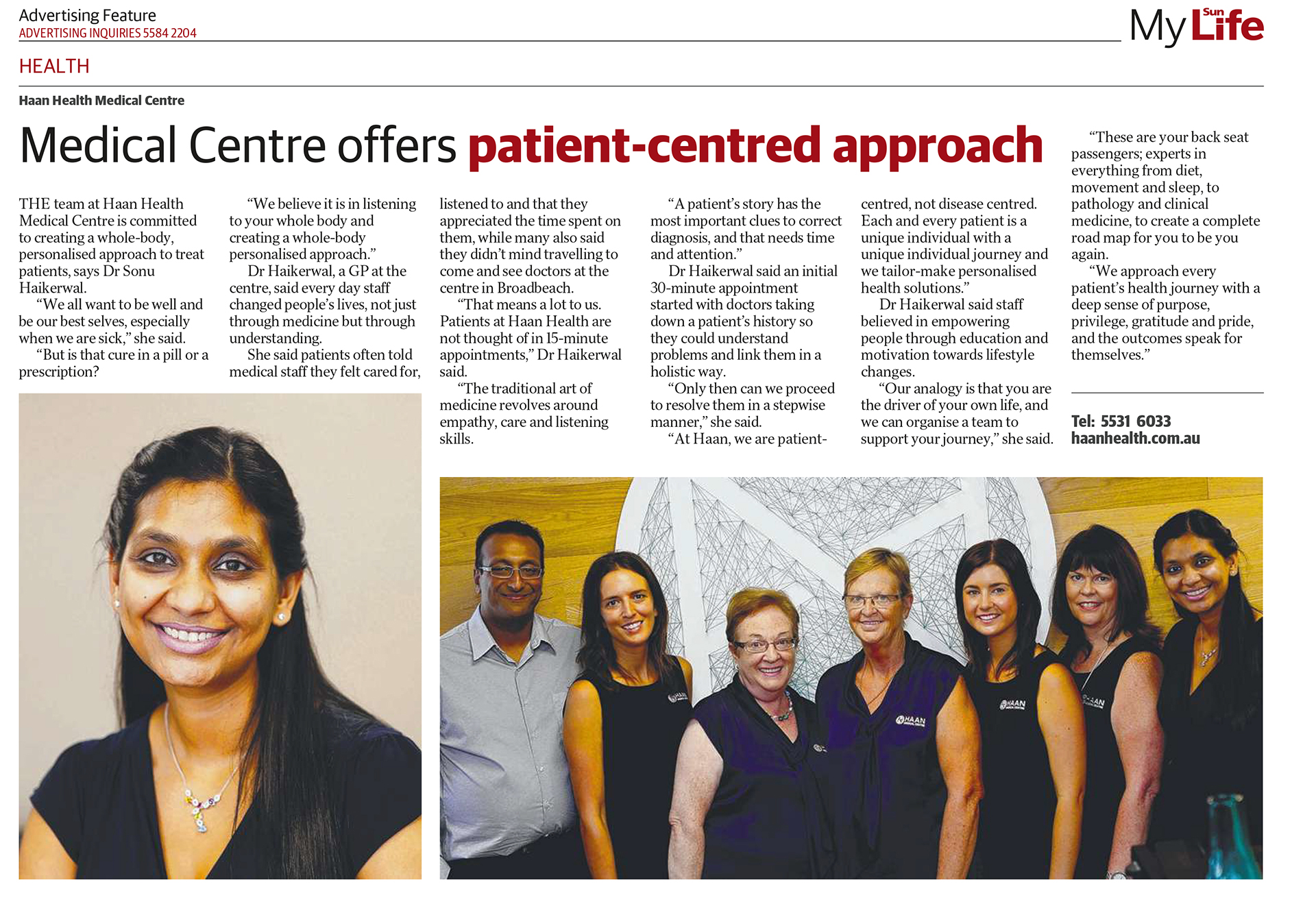 A long term patient-centred approach to Gold Coast Health Care